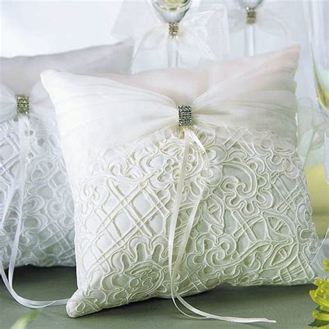 Embroidered Bridal Tapestry Ring Bearer Pillows (2 Colors)
