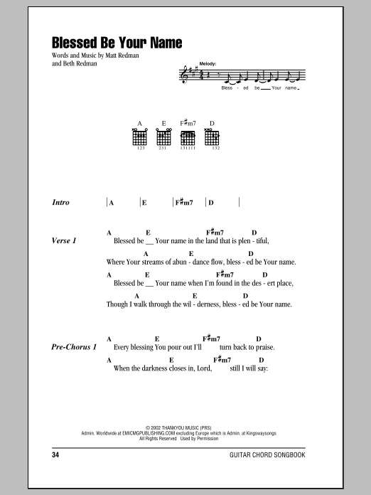 blessed be your name chords 2015Confession