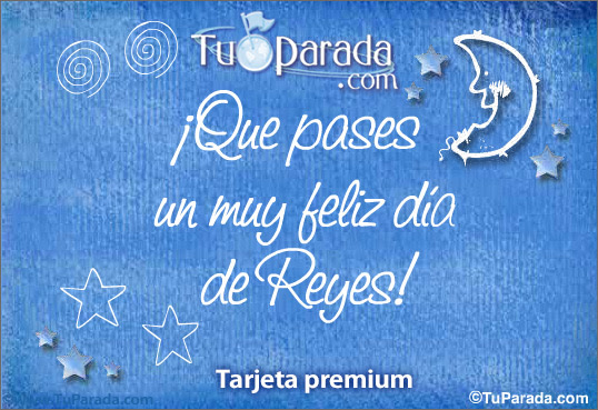 Muy feliz du00eda de Reyes, Du00eda de Reyes, tarjetas