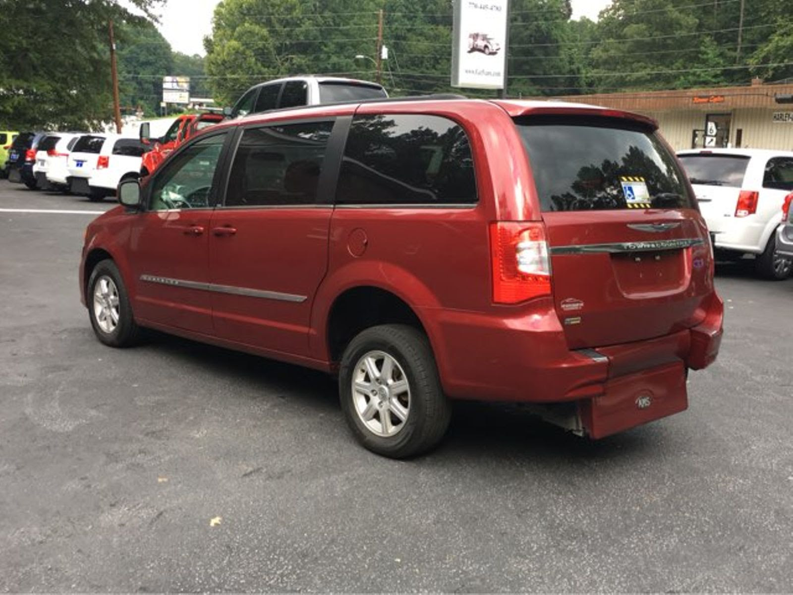 2011 Red Touring L Handicap Wheelchair Accessible Van