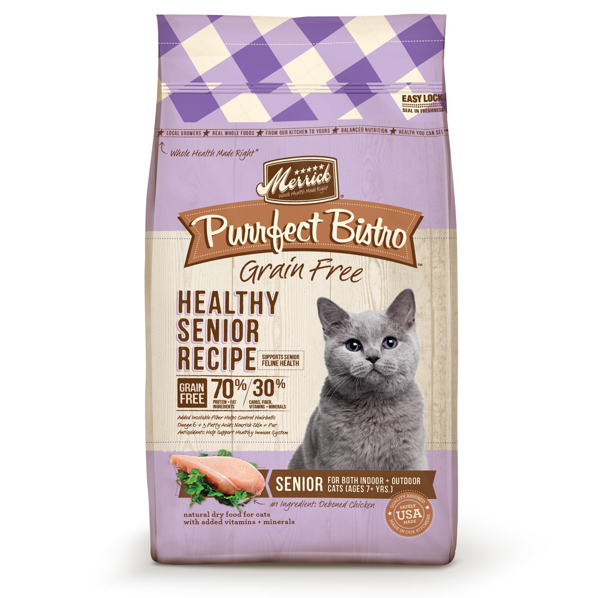Merrick Purrfect Bistro Grain Free Healthy Senior Cat Food ...