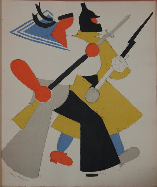 Russian placards, 1917-1922 (Vladimir Lebedev) - The Red Army and Navy defending Russia's borders