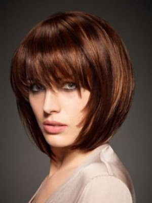 Silky Short Bob Wig With Eye Length Full Bangs Hair Cap For Wigs P4