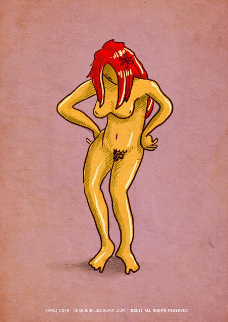 nude doodle