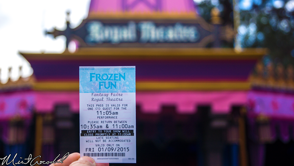 Disneyland Resort, Disneyland, Fantasyland, Royal Theatre, Frozen