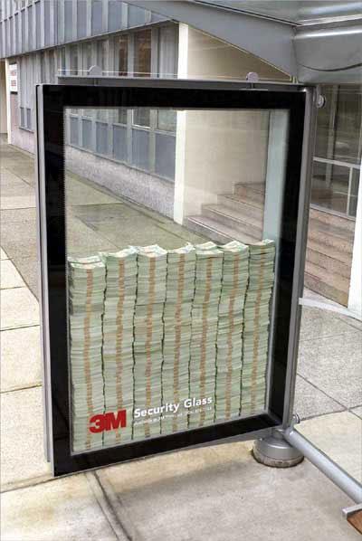 3m security glass guerrilla campaign