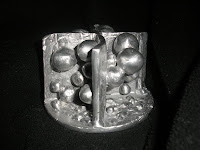 Aluminum Sculpture - side view, negative space where cat eye boulder will go, no filter color
