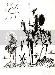 Don Quijote y Sancho por Picasso