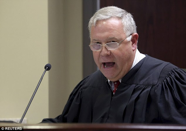 Outrage: Judge James Gosnell Jr sparked outrage on Friday when he said Dylann Roof's relatives are 'victims'