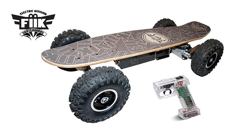 FiiK electric skateboard has wireless control and ABS braking  MIKESHOUTS