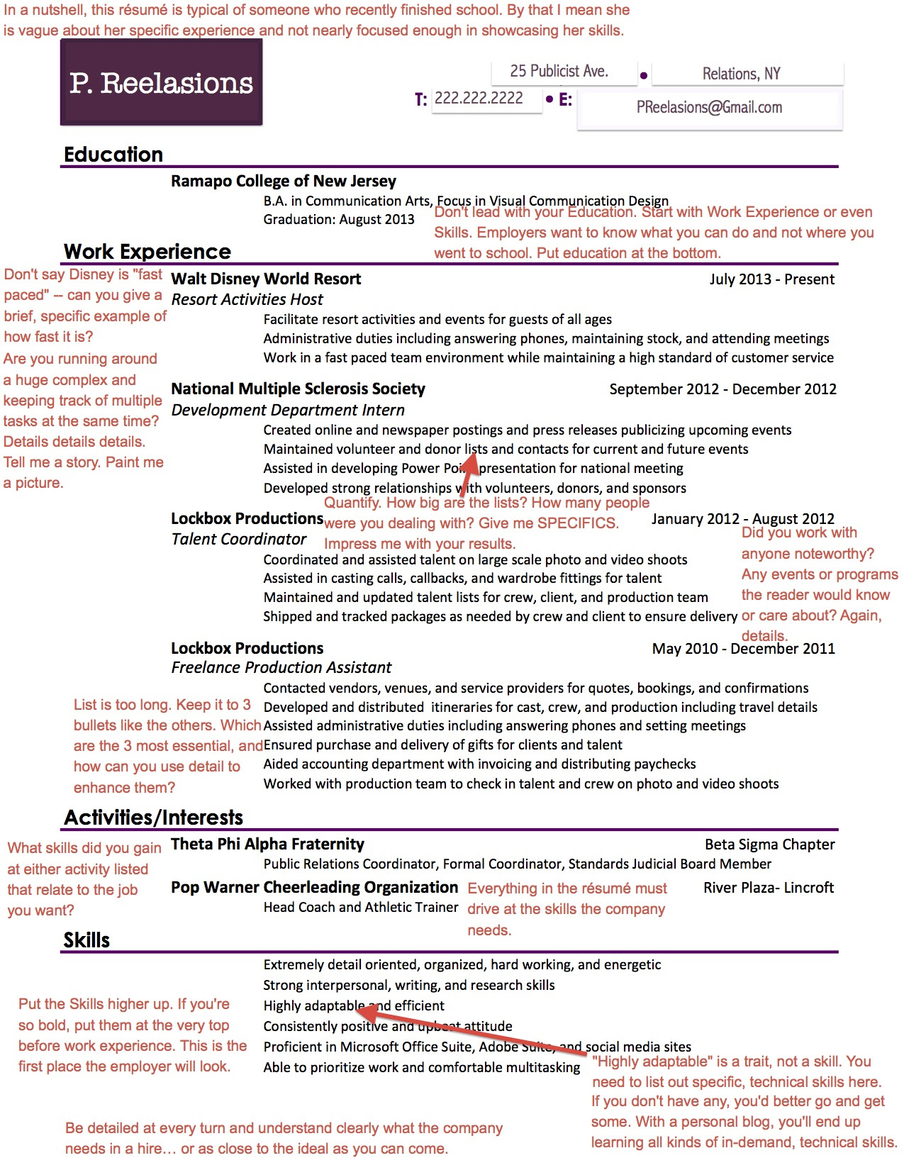 What Employers Are Looking For On Your PR Résumé  AfterCollege