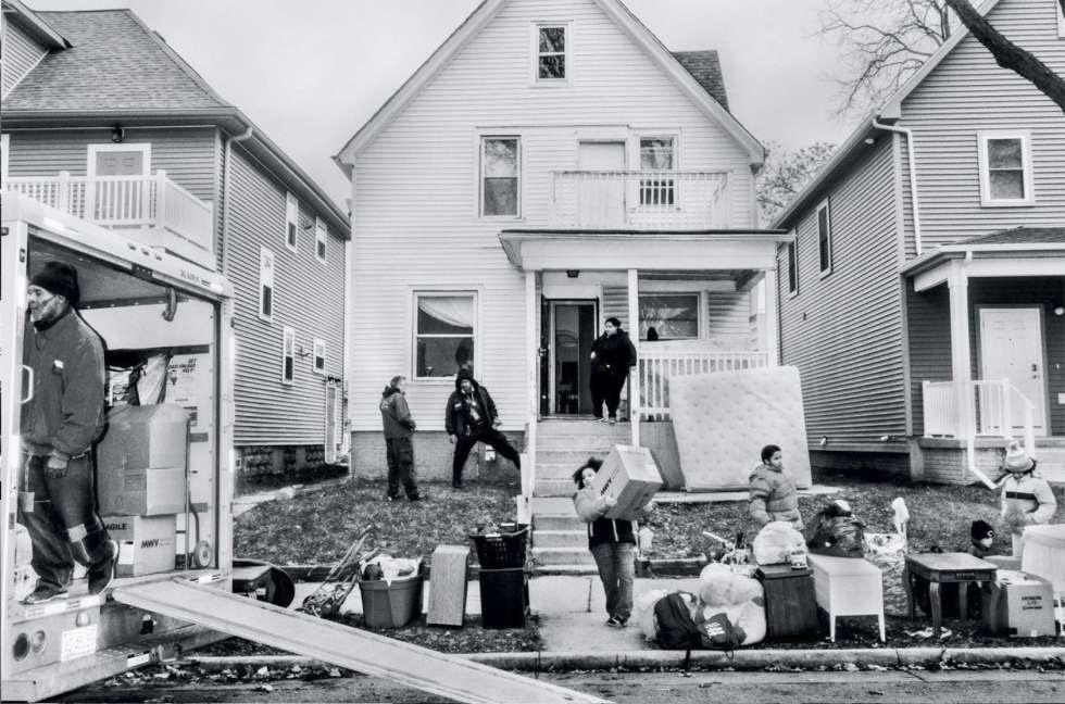 Desahucio de una vivienda en Milwaukee en 2016.