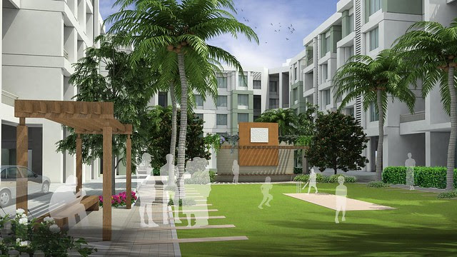 Amenities: Cricket pitch & feature wall - 2 BHK Flat for Rs. 25 Lakhs at Urbangram Kirkatwadi on Sinhagad Road, Pune 411 024