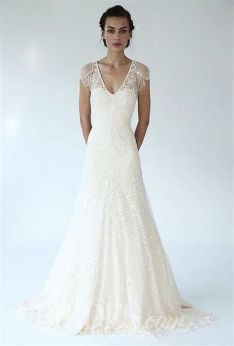 31 Feminine And Enchanting V Neck Wedding Dresses