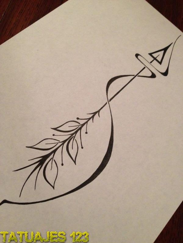 Una Flecha En Diseño Tatuajes 123