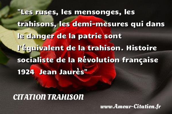 Citation Mensonge Trahison