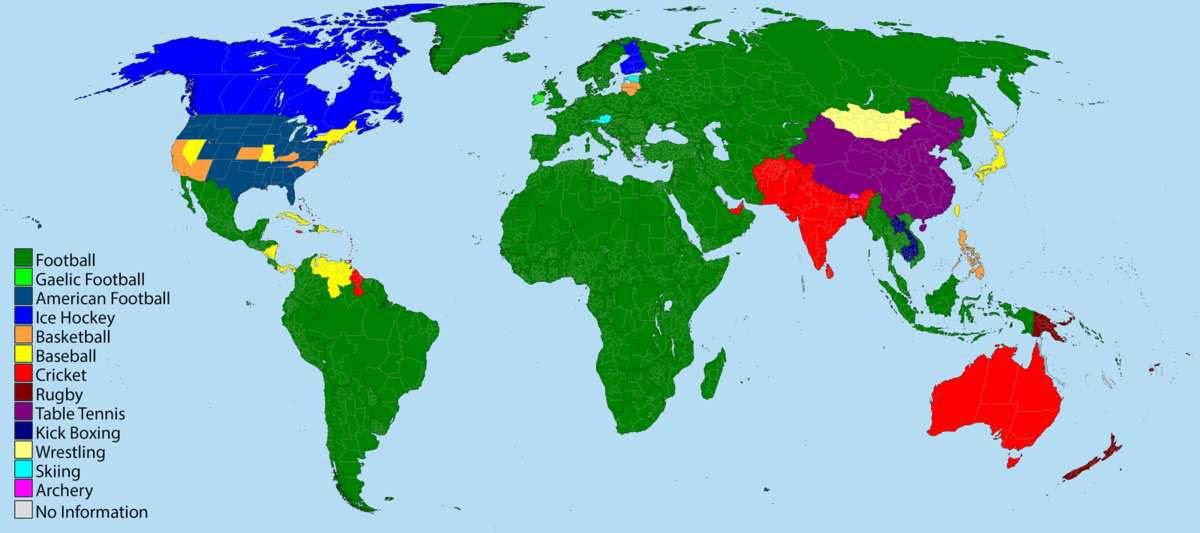 Quel Sport Dans Quel Pays Les Cartes De Géographie Samusent