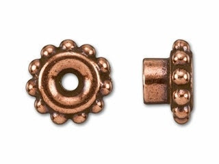 10 Pieces - Tierracast Antique Copper Bead Aligners- Bead Findings, Supplies- -Pewter, Lead-free