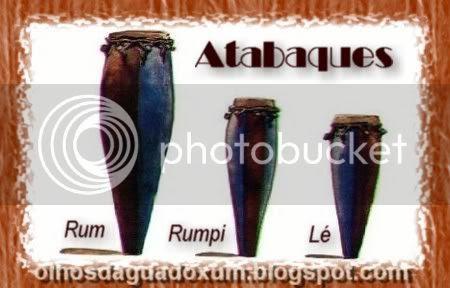 Instrumentos usados no candomble - Atabaques (Rum, Rumpi e Le)