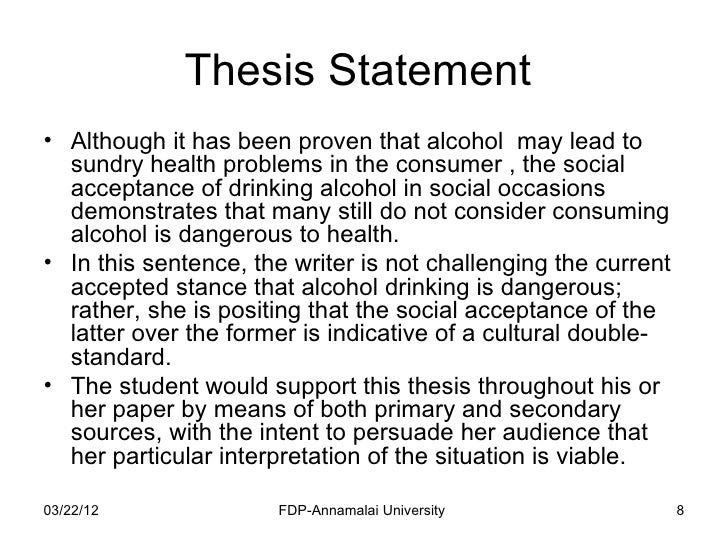 how to write a college essay paper thesis statement