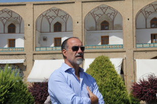 Marcello De Angelis, nel luglio scorso in Iran