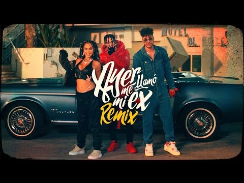 """Videoclip del remix """"Ayer me llamó mi ex """" con KHEA, Natti Natasha y Prince Royce  junto a Lenny Santos"""