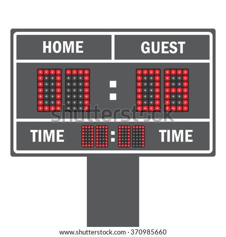 American football vector scoreboard. Sport football, scoreboard ...
