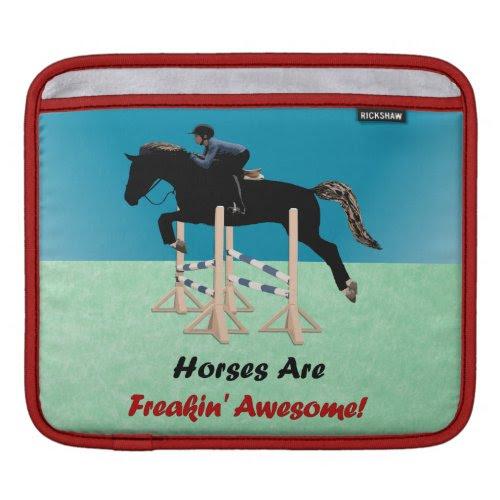 Cute Horses Are Freakin Awesome iPad Sleeve