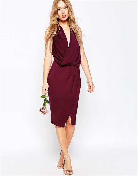 Image 4 of ASOS WEDDING Cowl Neck Midi Dress   dress