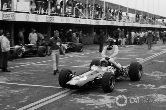 GP do México de 1966: o escocês Jim Clark e o inglês Peter Arundell