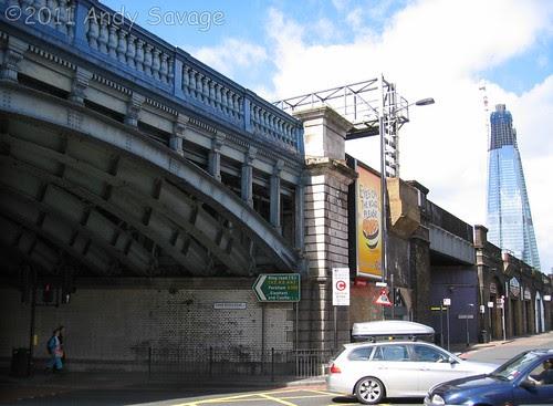 Tower Bridge Road Railway Bridge built by Handyside.