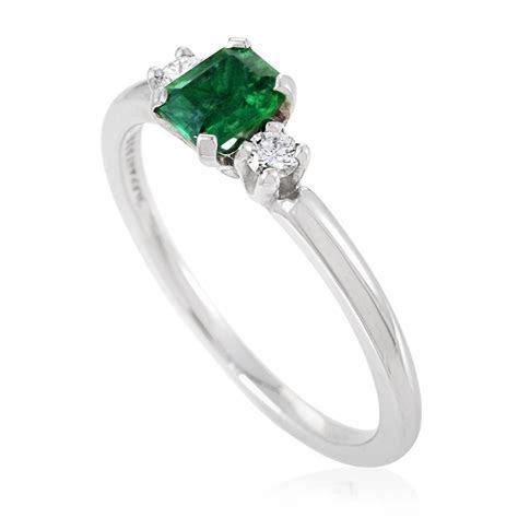Tiffany & Co. Womens Platinum Diamond and Emerald