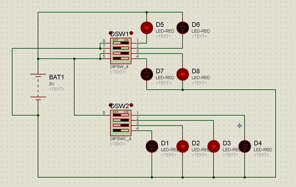 Simulation of DIP switches Example