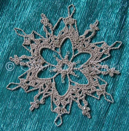 Beaded Grays Peak Snowflake
