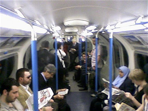 Boris Johnson Spotted on the Victoria Line by James