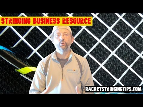 Racket stringing resource - website / app for racket stringing.