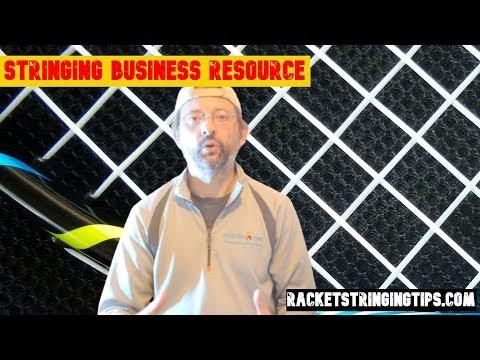 Racket stringing resource - website / app for racket stringing.