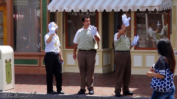 Disneyland Resort, Disneyland, Cast Members, Glove, Waving