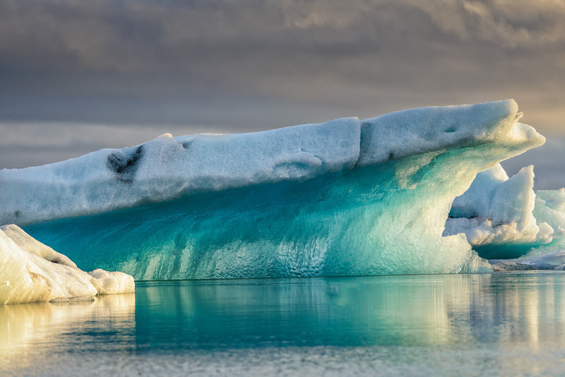 Blue ice at Jokulsarlon