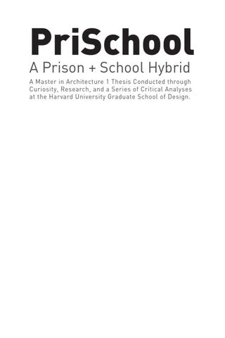Harvard architecture phd thesis