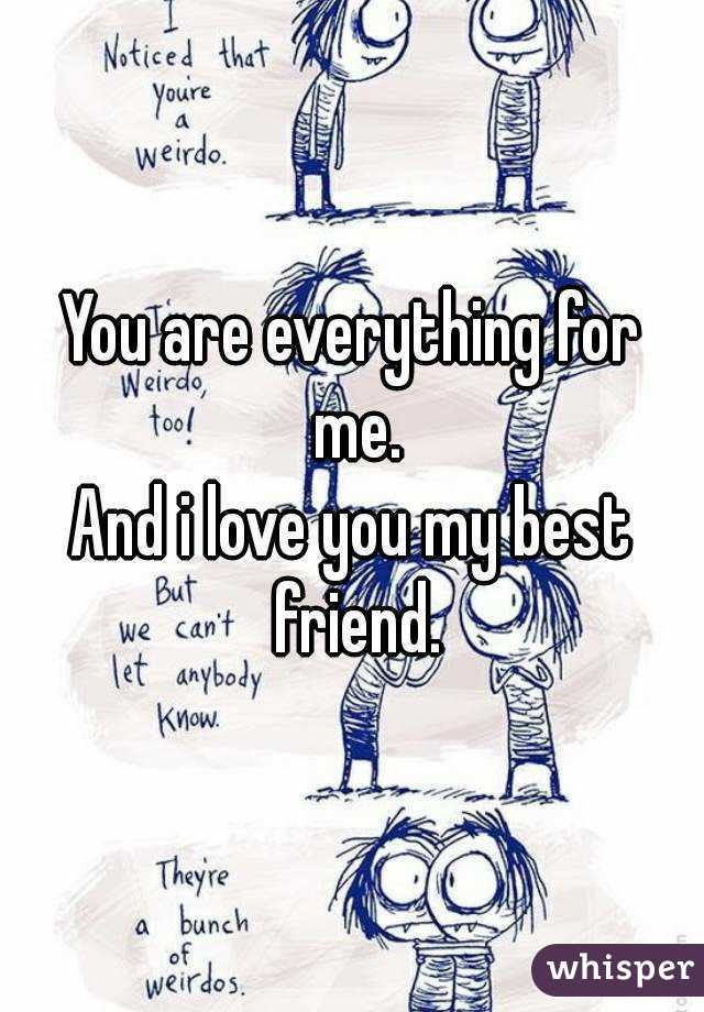 You Are Everything For Me And I Love You My Best Friend