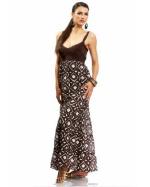 Bebe Tribal Tiered Sleeveless Maxi Dress