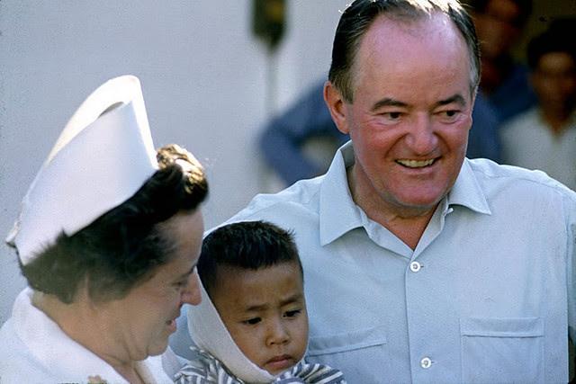 Vice President Hubert Humphrey visiting 3rd Field Hospital