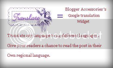 Google translation widget