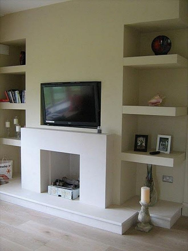 Alcove Floating Shelves Fireplace Movie Room Pinterest Tvs The Ojays And The Wall
