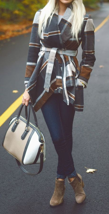 Fall Plaid Coat
