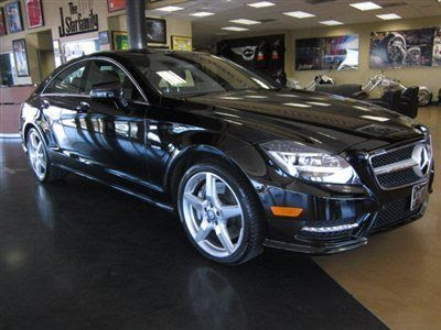 Sell used 2012 Mercedes Benz CLS550 black on black V8 twin ...