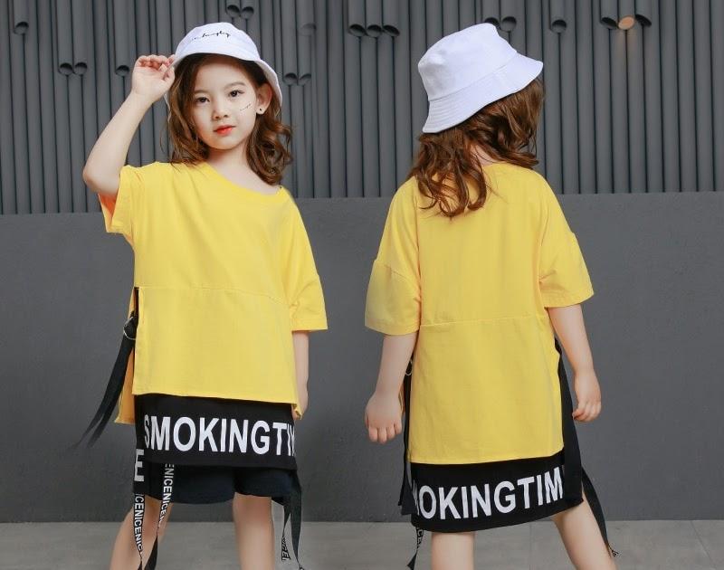 dea27f6dbf5fe7 Goede Kopen Kinderen Hip Hop Kleding Lange T Shirts Tops Casual Shorts Voor  Meisjes Jongens Jazz Dans Kostuum Ballroom Dansen Streetwear Goedkoop ...