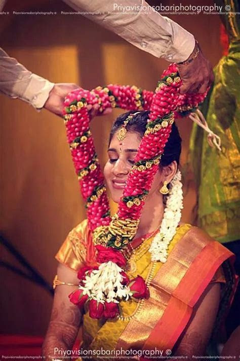 south indian bride   South indian bridal   Garland wedding