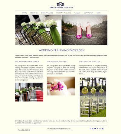 Web Design Wedding Planner / Event Planner